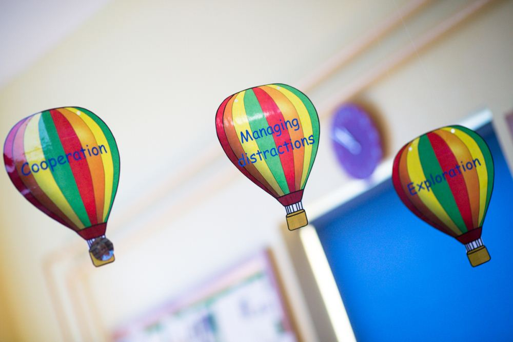 hot air balloons showing characteristics of good learning